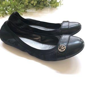 Coach black signature Chelsea cap toe flats